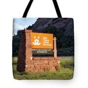 Best Friends Animal Sanctuary Angel Canyon Knob Utah Signage 01 Tote Bag