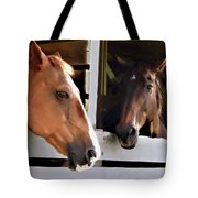 Best Friends Horse Chat Tote Bag
