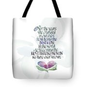 Best Mom Tote Bag by Judy Dodds