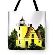 Bete Gris Lighthouse Tote Bag