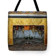 Bethlehem - Grotto Silver Star Tote Bag
