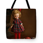 Betsy In Plaid Tote Bag