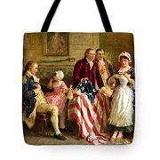 Betsy Ross And General George Washington Tote Bag
