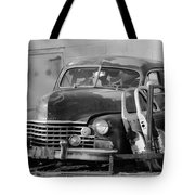Better Days In Black And White Tote Bag