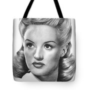 Betty Grable Tote Bag