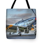 Betty Jane P51d Mustang At Livermore Tote Bag