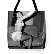 Betty Page Pin Up Girl 1950 Tote Bag