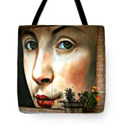 Between Closed Doors Tote Bag