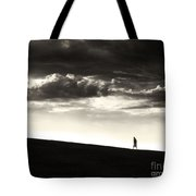 Between Living And Dying Tote Bag