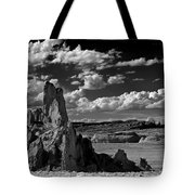 Between Monument Valley And Heaven  Tote Bag