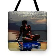 Between Sky And Sea Tote Bag