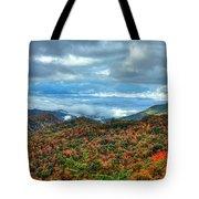 Between The Clouds Blue Ridge Parkway North Carolina Art Tote Bag