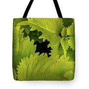 Between The Leaves Tote Bag