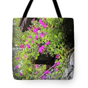 Beutiful Flowers Hang The Wall . Tote Bag