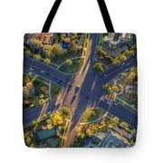 Beverly Hills Streets, Aerial View Tote Bag