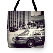 Beverly Hills - Taxi - Wilshire Boulevard Intersection Tote Bag