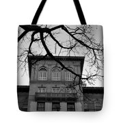 Beverly Wilshire Hotel - Beverly Hills - Black And White Tote Bag