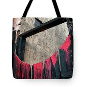Beware All Who Enter Here - Halloween Gate Tote Bag