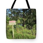 Beware Of Gator Tote Bag