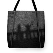 Beware Of The Shadows Black And White Tote Bag