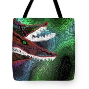 Beware, When You Decide To Swim With The Big Fish Tote Bag