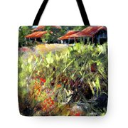 Beyond The Red Flowers Tote Bag