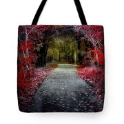 Beyond The Red Leaves Tote Bag
