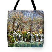 Beyond The Snowy Mountains Tote Bag