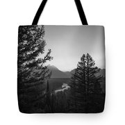 Beyond The Trees Bw Tote Bag