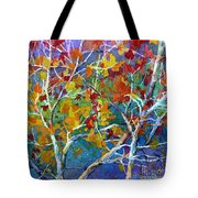 Beyond The Woods - Orange Tote Bag