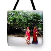 Bff Best Friends Pregnant Women Portrait Village Indian Rajasthani 1 Tote Bag