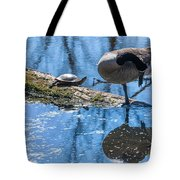 Bff Turtle And Canda Goose Tote Bag