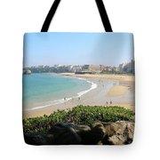 Biarritz Beach Panorama Tote Bag