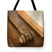 Bible And Gavel Tote Bag