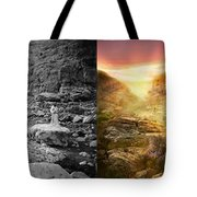 Bible - Psalm 23 - Yea, Though I Walk Through The Valley 1920 - Side By Side Tote Bag