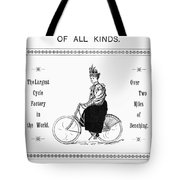Bicycle, 1897 Tote Bag
