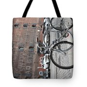 Bicycle And Building Tote Bag