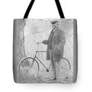 Bicycle And Jd Rockefeller Vintage Photo Art Tote Bag