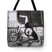 Bicycle Gymnastics 4 Tote Bag