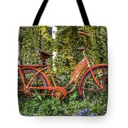 Bicycle In The Garden Tote Bag