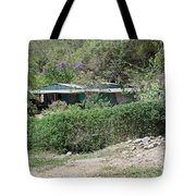 Bicycle In The Yard Tote Bag
