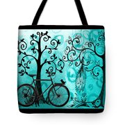 Bicycle In Whimsical Forest Tote Bag