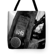 Bicycle License Tote Bag