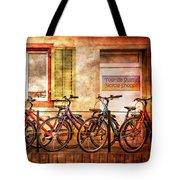 Bicycle Line-up Tote Bag