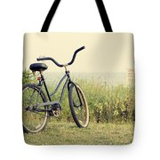 Bicycle On Beach Summer's On The Coast Tote Bag