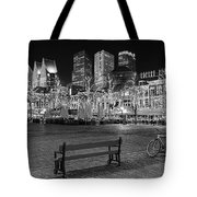 Bicycle On The Plein At Night - The Hague  Tote Bag