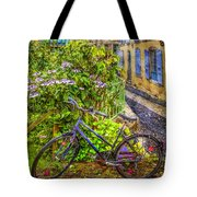 Bicycle On The Square Tote Bag