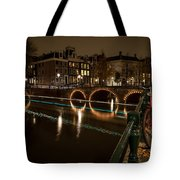 Bicycle Parked At The Canals Tote Bag