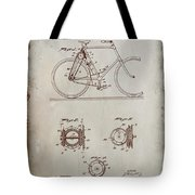Bicycle Patent Drawing 4a Tote Bag