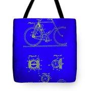 Bicycle Patent Drawing 4b Tote Bag